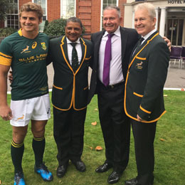 Gavin Varejes once again invited to hand out Springbok Jerseys